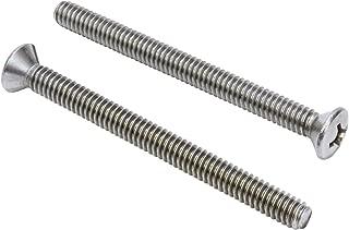 15 1//4-20x4 Phillips Flat Head Machine Screws Zinc Plated Steel 1//4 x 20 x 4