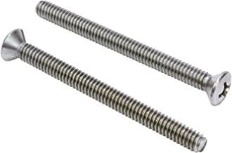 1/4''-20 X 3'' Stainless Phillips Oval Head Machine Screw, (25 pc), 18-8 (304) Stainless Steel, by Bolt Dropper
