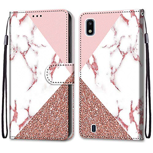 KimsCase for Samsung Galaxy A10 2019 Case Leather Magnetic Notebook Kickstand Flip Animal Pattern Design Protective Pretty Cute Kawaii Dustproof Shockproof Bumper Funny Cover