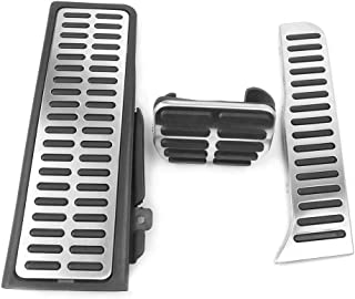 Newsmarts Sport Pedal Pads Non Drilling Accelerator Pedals Cover Kits Compatible for VW Jetta MK6 LHD 2012-2017