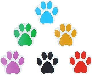 revoq Super Roll of 600 Dog Paw Stickers, Dog Stickers, Colorful paw Print Stickers, Fun Dog Stickers for Kids Sticker roll (Assorted)
