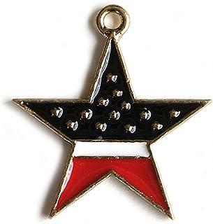 アクセサリーパーツ チャーム アメリカ国旗模様 星チャーム 3個セット