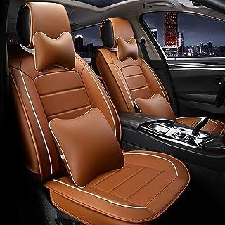 Car Seat Covers, 5 Asiento completo sistema de cuero Par Delantero universal de Carseat Protectores Conjunto for el conductor y el pasajero del automóvil Accesorios Interior Colchoneta