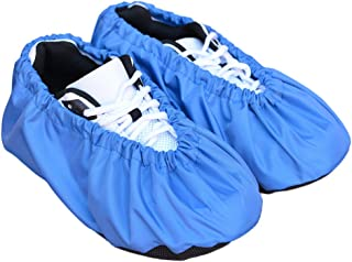 MyShoeCovers Premium Reusable Shoe and Boot Covers for Contractors - Pair, Blue, X Large