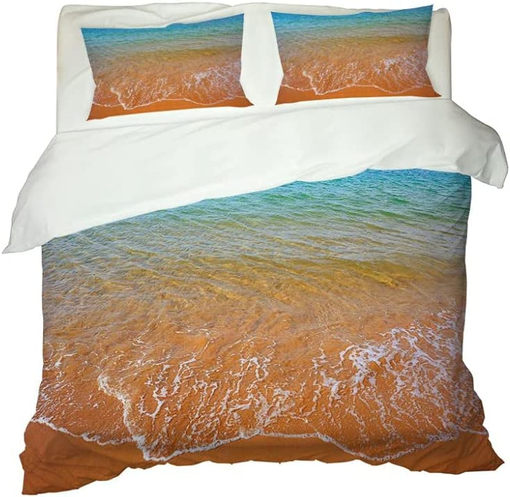 At the price MENGBB Toddler Omaha Mall Bedding Sets for Rip Bed Inch 89X89 Beach