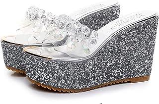 Kinder Schuhe Glitter Prinzessin Mädchen Sandalen Cinderella Kinder High Heels Teenager Kleine Füße Damen Shinning Folge Kristall