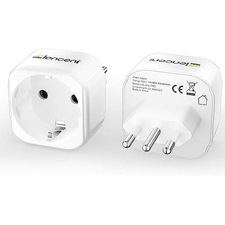 Lencent 2x Reiseadapter De Zu It Reisestecker Adapter Elektronik