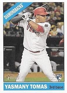 2015 Topps Heritage High Number Action Image Variations #705 Yasmany Tomas Diamondbacks MLB Baseball Card NM-MT
