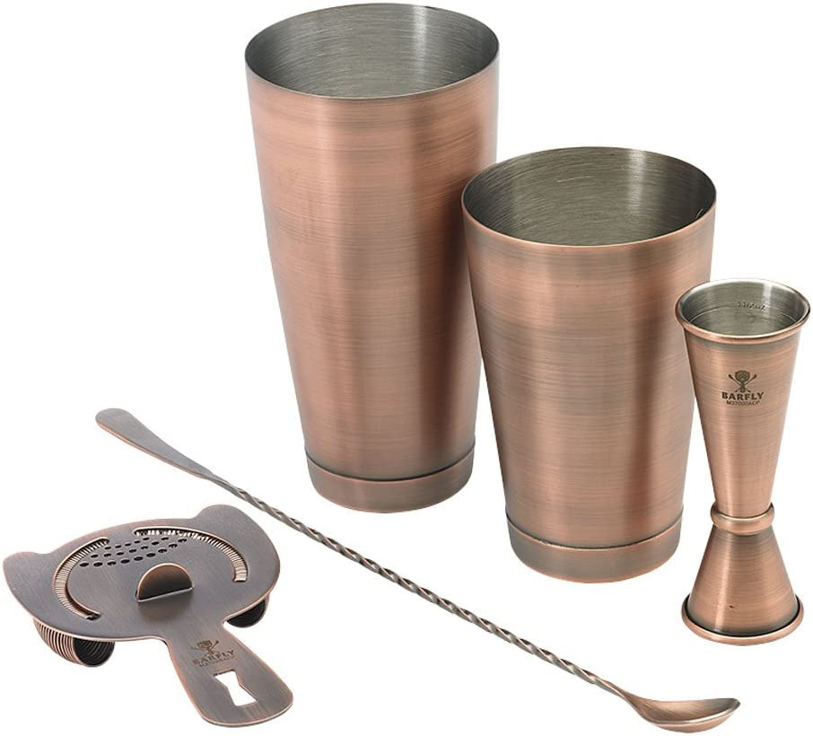 Barfly Mixology Basic Set Piece 55% OFF 5 Antique Copper Ranking TOP8