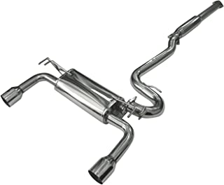 DC Sports DTS6012 Mitsubishi Lancer Ralliart Polished Stainless Steel Dual Canister Cat-Back Exhaust System