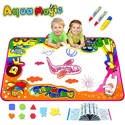 KULARIWORLD Aqua Magic Doodle Mats Toys for Kids Toddlers Paint Water Drawing Mat Educational Toy Large Size for Boys Girls Gift Age 3,4,5,6 Year Old 34.6' X 22.8'
