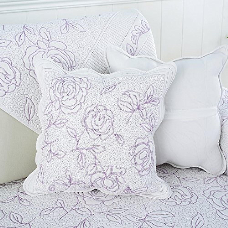 Le coussin du dossier tissu lit oreiller Coussin Oreiller Taille Bureau Siesta Rose,4545cm Core,Rose pourpre