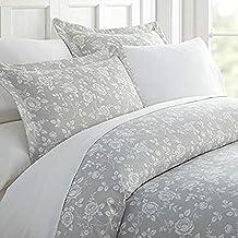 طقم ملاءات سرير من 3 قطع من Home Collection iEnjoy Home Hotel Collection Premium Ultra Soft Rose Pattern من 3 قطع، توأم/مف...