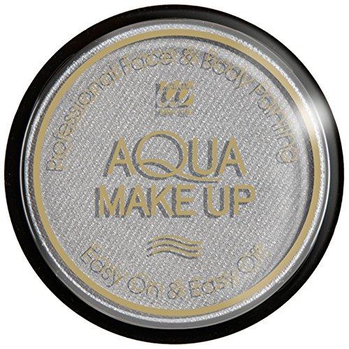 Widmann Aqua maquillage métallisé unisex-child, argent, 15 g, vd-wdm9283b