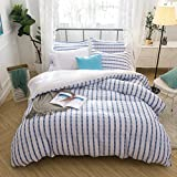 Merryfeel Seersucker 100% Cotton Yarn Dyed Duvet Cover Set - King Grey