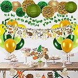 Woodland Animals Baby Shower Decoraciones para niño o niña, kit de suministros de fiesta de género neutro, pancarta de bienvenida para bebé