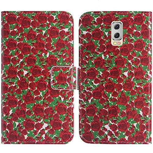 TienJueShi Rose Blume Flip Book-Style Brief Leder Tasche Schutz Hulle Handy Hülle Abdeckung Fall Wallet Cover Etui Skin Fur M-Horse Power 2 5.5 inch