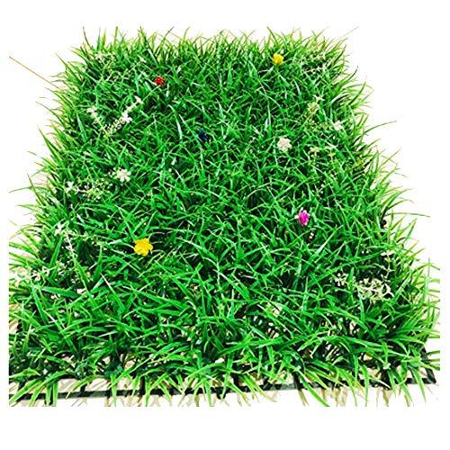 RDJSHOP Cerca de Flores y Hojas de Hierba Alta Artificial Panel de Sauce Screening Privacidad Hedge Garden Garden 40cm X 60cm Valla Artificial Valla de Madera de boj