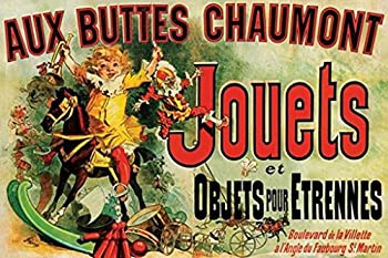 Pyramid America Jules Cheret Aux Buttes Chaumont Jouets 1885 Vintage French Department Store Toy Ad Cool Wall Decor Art Print Poster 36x24
