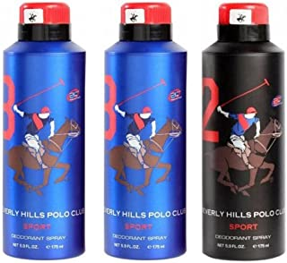 Beverly Hills Polo Club Deodorant for Men - Pack of 3