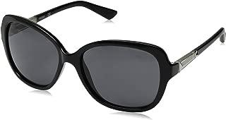 Guess Women's Fashion Sun GU 7455 01B Sunglasses, Grey, 58 mm
