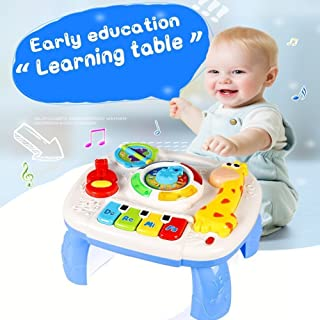 HOMOFY Baby Toys Musical Learning Table 6 Months up Early Education Activity Center Multiple Modes Game Kids Toddler Boys and Girls 1,2,3, Years Old New Gifts (Learning Music Table)