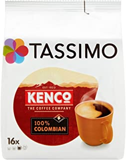 TASSIMO Kenco Colombian 16 T DISCs (Pack of 5, Total 80 T DISCs)