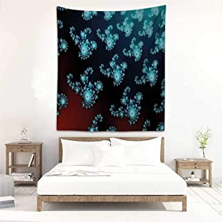 Godves Decorative Tapestry Fractal Trippy Forms with Twisted Parts Background Creative Motion Design Occlusion Cloth Painting 51