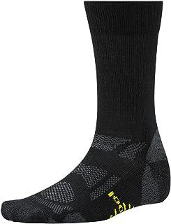 Smartwool Outdoor Sport Light Crew Socks, Black/Smartwool Green, Large