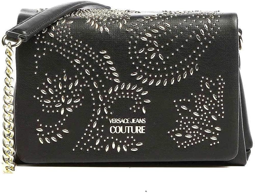 Versace jeans couture ,borsa a tracolla con logo per donna,in ecopelle 1VZABB1