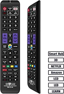 Gvirtue Universal Remote Control Compatible Replacement for Samsung TV/ 3D/ LCD/ LED/ HDTV/ Smart TV, AA59-00666A BN59-01178W BN59-01199F AA59-00638A AA59-00637A AA59-00594A AA59-00600A AA59-00582A