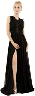 Women's Mermaid Long Prom Dresses Sexy Backless Sheath Evening Gowns