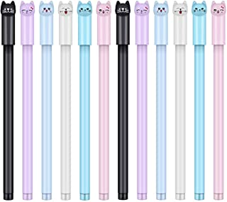 24 Pcs 0.38 mm Cute Cat Pen Gel Pens Black Ball Point Pens for School Office Supplies