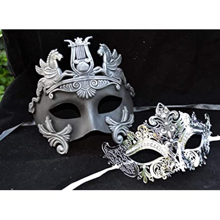 mens gold gladiator masquerade mask mens mask couples mask set Women/'s teal mask couples mask pair his and hers masks for couples