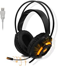 $25 » Sponsored Ad - Ajazz AX120 Gaming Headset with USB 7.1 Surround Sound Stereo,Computer Game Gamer Over Ear with Mic Bass Su...
