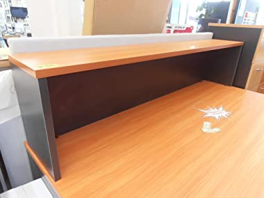 Desk Top Hob Hutch 1800mm Wide Charcoal Beech