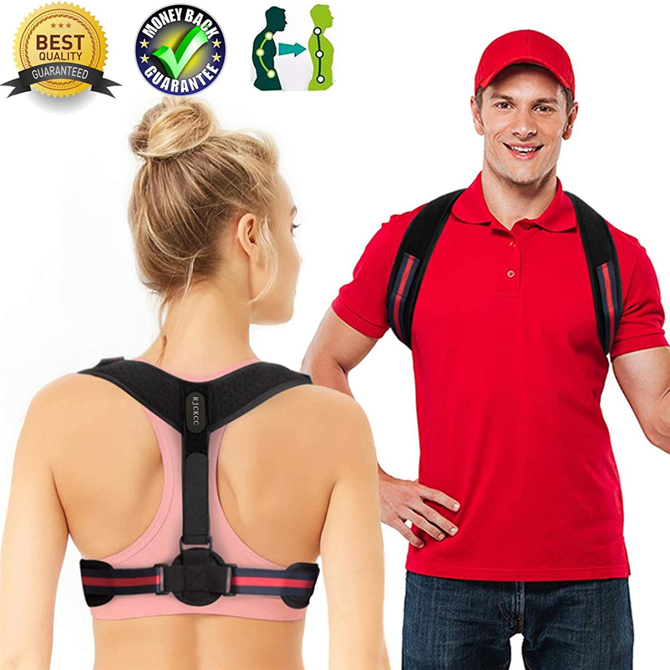 Posture Corrector for Women Men Upper Back Brace Posture Support Best Upright Go Posture Trainer Clavicle Brace Slouching Kyphosis Spine Corrector Scoliosis Under (Posture Corrector, 26