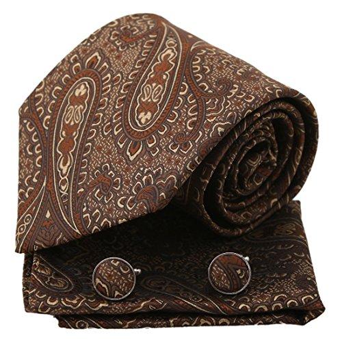 Epoint PH1129 Grau Patterned Fantastische Formal Wear Geschenk Gewebte Seide Krawatte Taschentücher Manschettenknöpfe Geschenkbox Set Silber Herren Geschenk