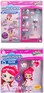 Shopkins Happy Places Season 3 Cozy Bear Bedroom Welcome Pack and Lil Shoppie Valentina Hearts