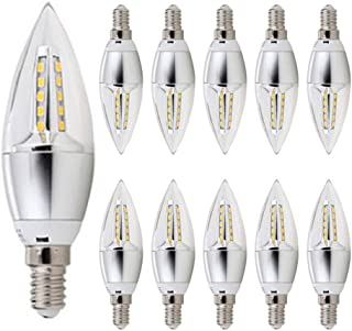 MODI Candelabra Bulb, 10 pcs Pack 5w LED Candelabra Bulb Daylight 40W Equivalent, Non- Dimmable E14 Cool White 6500K Cande...