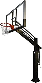 Bison Hoop HangTime: Best-Selling Driveway Basketball Goal Hoop With a High-Performance 36 x 54 in. Glass Backboard