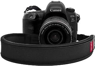 Akineko カメラストラップ 一眼レフ· ミラーレス用高耐久ネックストラップ【安心の18ヶ月保証】弾力性を持ち 肩への負担を軽減できる 各社一眼レフ、ミラーレスカメラ対応 ストラップ ブラック