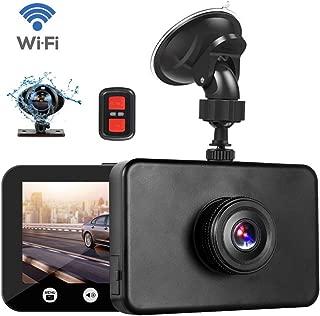 Máy thâu hình đặt trên xe ô tô – Vsysto Dash Cam WiFi 1080P FHD DVR Car Driving Recorder 4.5 Inch Front and Inside Dual Lens Camera 310° Wide Angle, G-Sensor, Loop Recording