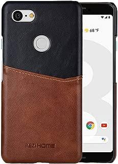 Pixel 3 Case,Genuine Leather Card Holder Slot Wallet Case Cover for Google Pixel 3 (Black2)