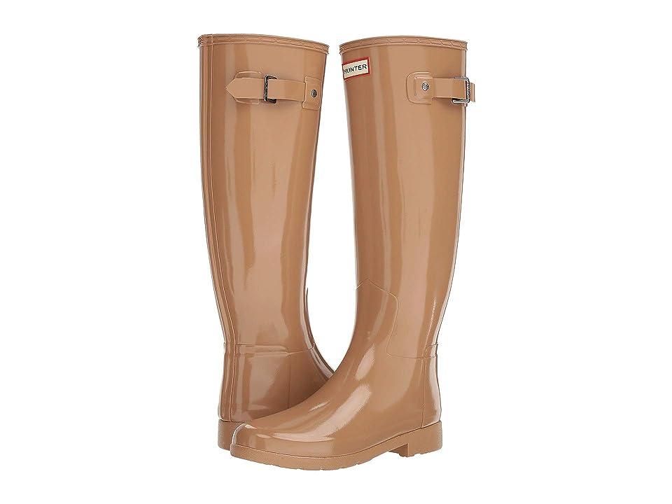 Hunter Original Refined Gloss Rain Boots (Tawny) Women