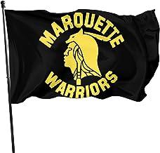 JXXO Marquette Warriors Flag,Outdoor Garden decorates Grommzets Tough Durable Fade Resistant for All Weather Outdoor