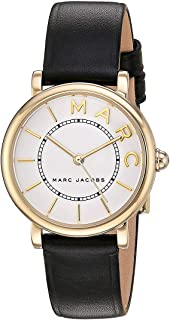 Marc Jacobs Women's Analog Japanese Quartz Watch with Leather Calfskin Strap