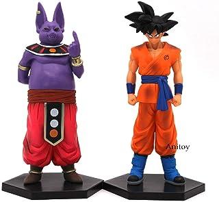 xstorex Dragon Ball Z 2pcs / Set Son Goku Champa & Kakarotto Vegeta y BeerusPVC Figura de acción de colección Modelo de Juguete 16-17cm-UNA