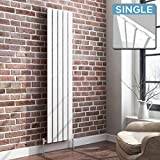 iBathUK | 1600 x 360 Vertical Column Designer Radiator White Gloss Single Flat