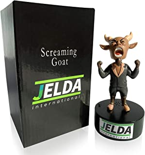 JELDA's Screaming Goat Desk Toy - Mini Figurine with Multiple Funny Sounds and Adjustable Volume | Office Stress Relief | ...